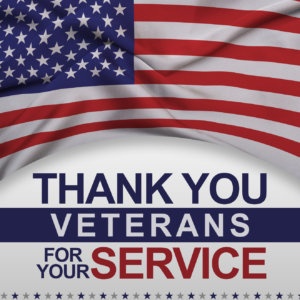 Thank you Veterans for your Service.